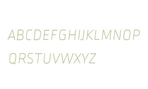 Ropa Sans SC W06 Thin Italic