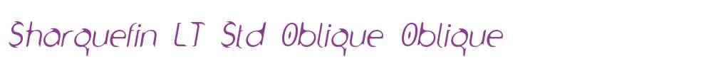Sharquefin LT Std Oblique