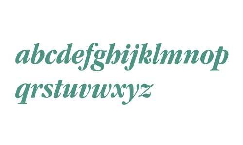 Garamond* Condensed Bold Italic