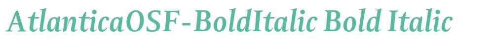 AtlanticaOSF-BoldItalic