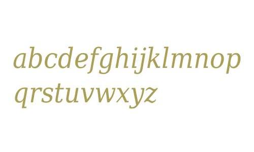 DejaVu Serif Condensed Italic V1