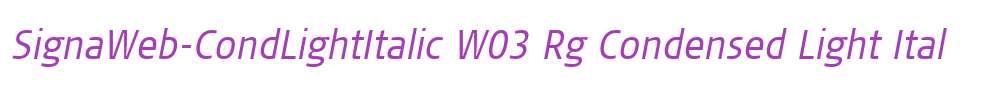 SignaWeb-CondLightItalic W03 Rg