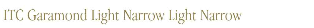 ITC Garamond Light Narrow