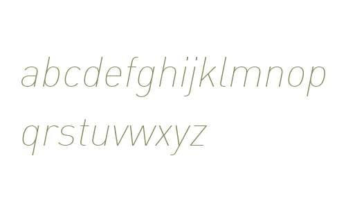DIN W07 Thin Italic