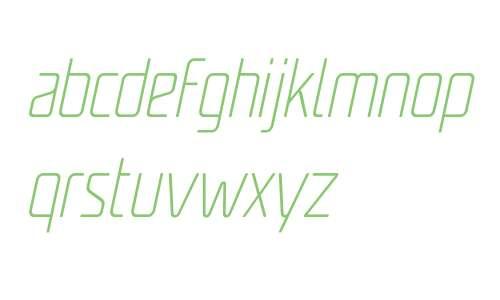 Unicod Sans W03 Cn UltLight It