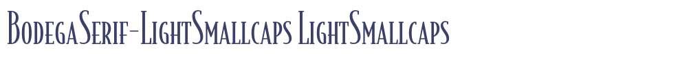 BodegaSerif-LightSmallcaps