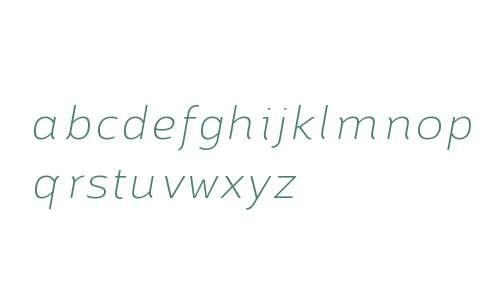 Brisko Sans W01 Thin Italic