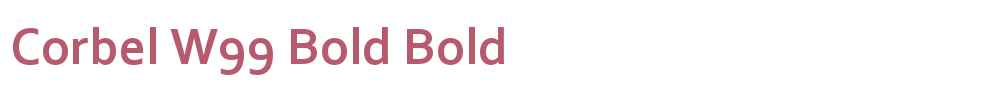 Corbel W99 Bold