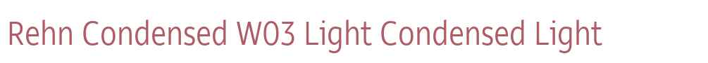 Rehn Condensed W03 Light