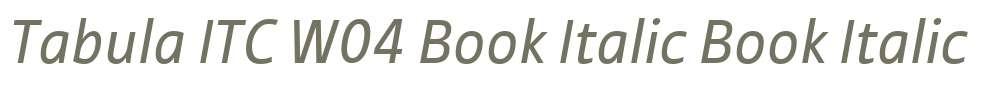 Tabula ITC W04 Book Italic