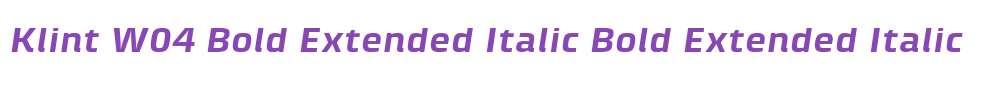 Klint W04 Bold Extended Italic