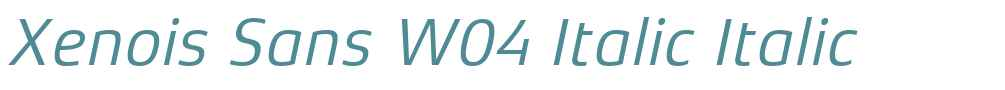Xenois Sans W04 Italic