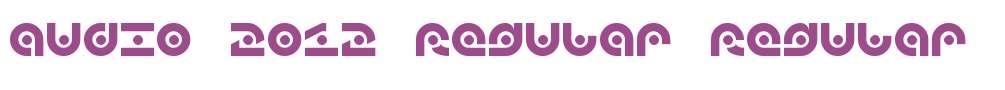 audio 2012 Regular