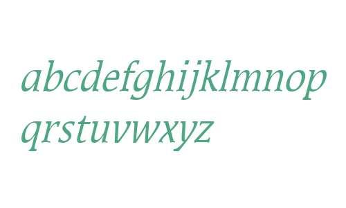 Mirror Condensed Italic