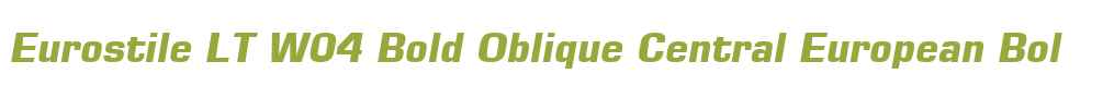 Eurostile LT W04 Bold Oblique