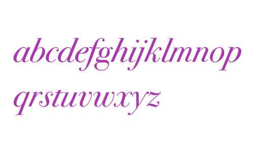 Bodoni Seventytwo ITC Book Italic