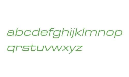 EurostileExtReg W07 Italic