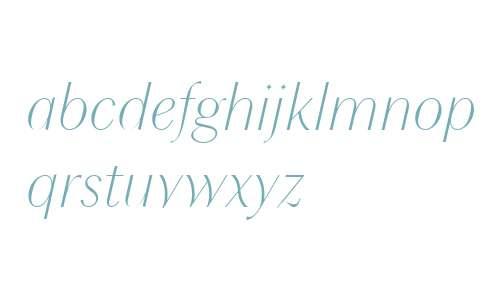 Chong Modern W04 Light Italic