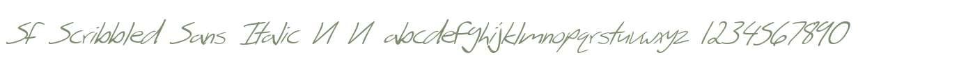 SF Scribbled Sans Italic V1 V1