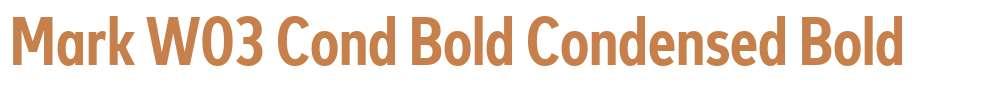Mark W03 Cond Bold