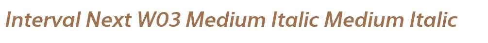 Interval Next W03 Medium Italic