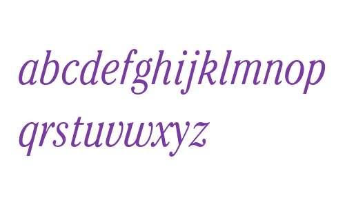 ITC Cheltenham Std Light Condensed Italic