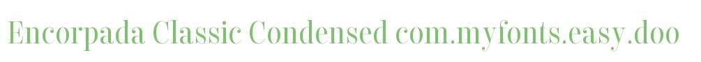 Encorpada Classic Condensed