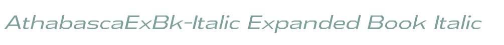 AthabascaExBk-Italic