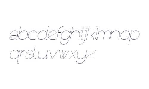 Kerater W00 Thin Italic