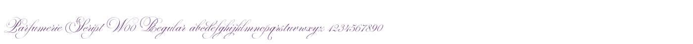 Parfumerie Script W00 Regular