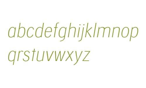 Skilt Gothic W04 Thin Italic