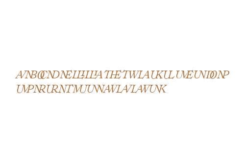 Ronaldson W00 Ital Ligatures