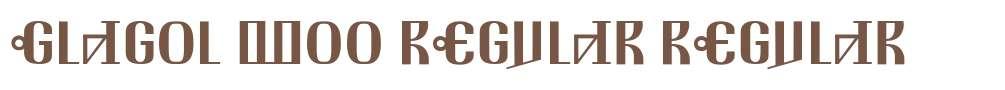 Glagol W00 Regular