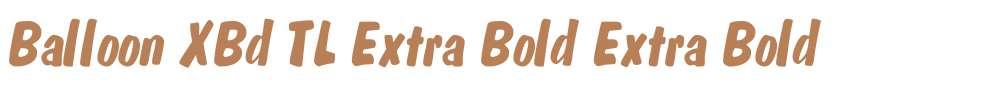 Balloon XBd TL Extra Bold