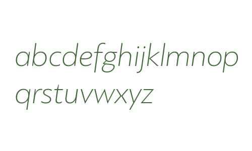 PF Bague Sans Pro Thin Italic