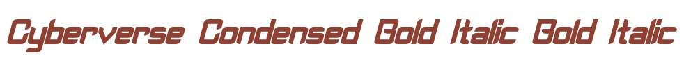 Cyberverse Condensed Bold Italic