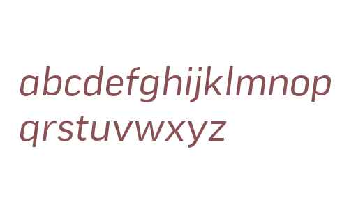 GoodWeb W03 WideItalic