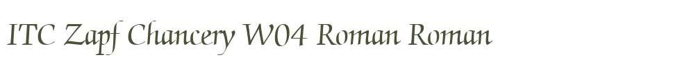 ITC Zapf Chancery W04 Roman