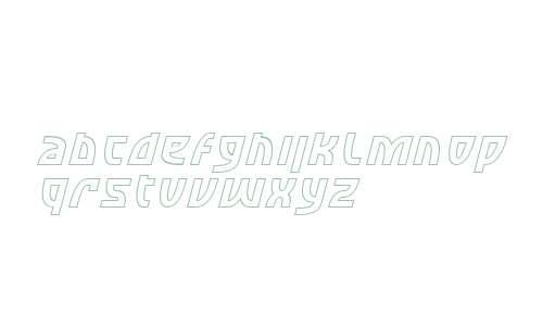 SF Retroesque Outline Italic