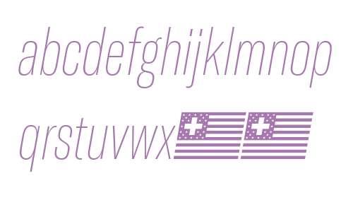 GT America Compressed Ultra Light Italic