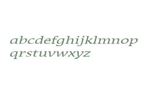 Mirror Wide Italic