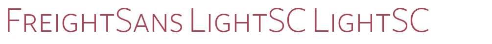 FreightSans LightSC
