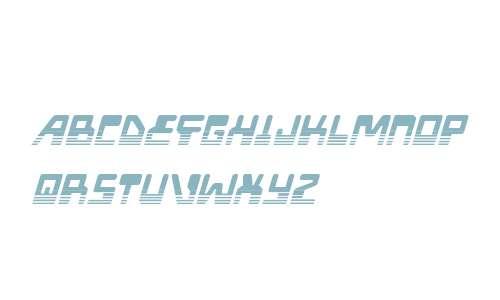 Xped Halftone Italic