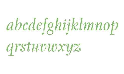 Tyfa ITC W04 Book Italic