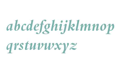 Bembo MT W04 Bold Italic