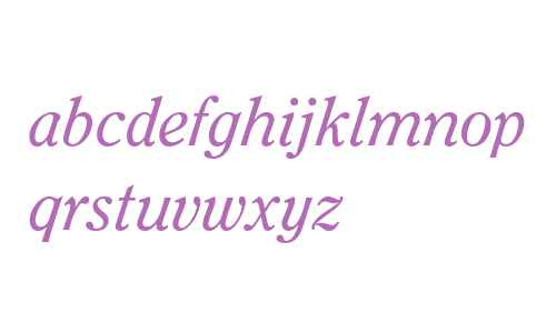 ITC Clearface LT Regular Italic