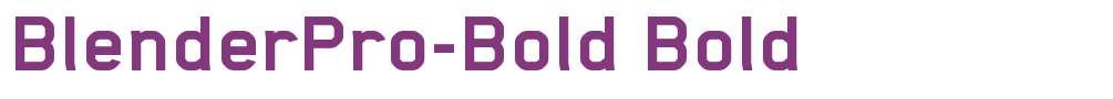 BlenderPro-Bold