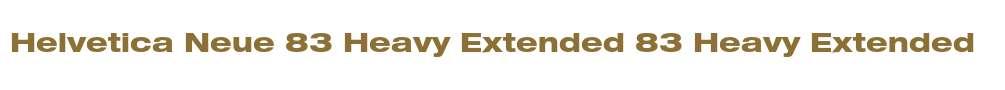 Helvetica Neue 83 Heavy Extended