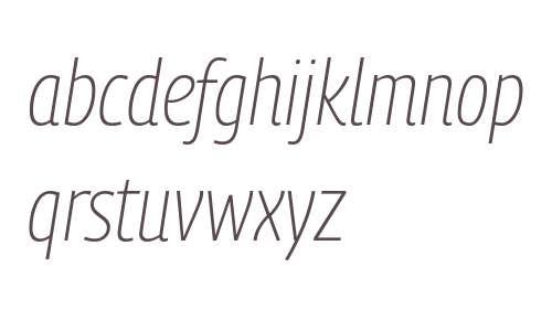 PanoramaW SemiCondensed UltraLight Bold Italic