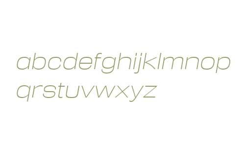 Reversal W00 ExtraLight Italic